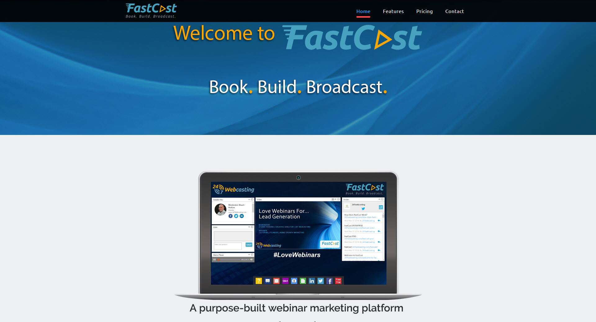 FastCast; the brand-new, hassle-free, super-quick approach to webinars
